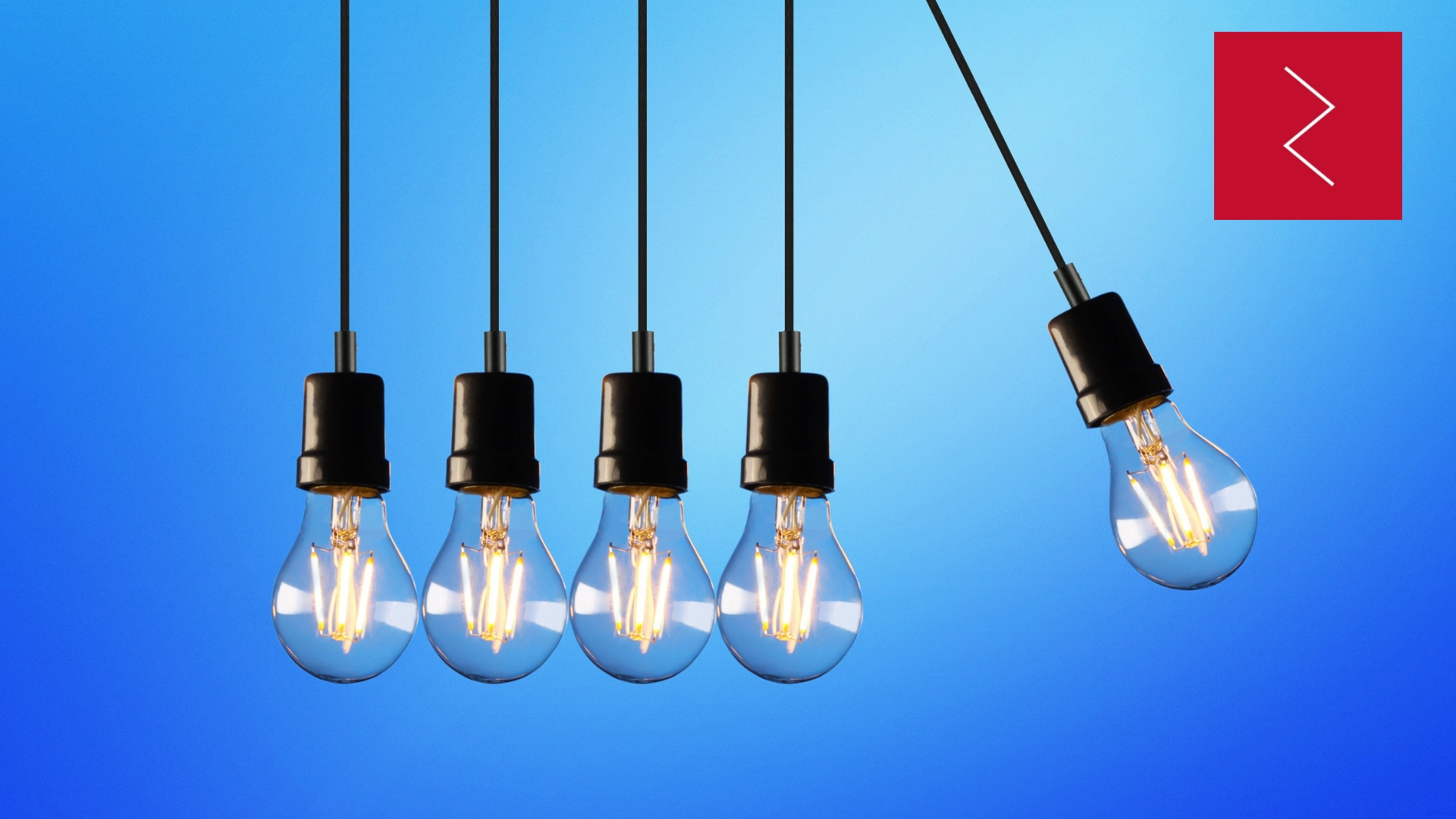 Lightbulbs with blue background