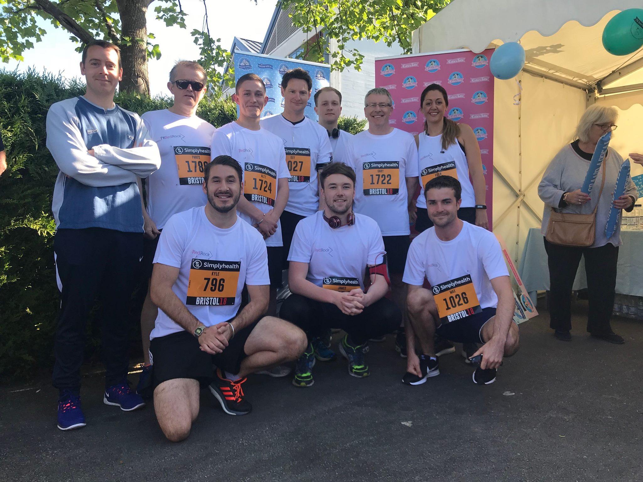 Team RedRock at last year's Bristol 10k